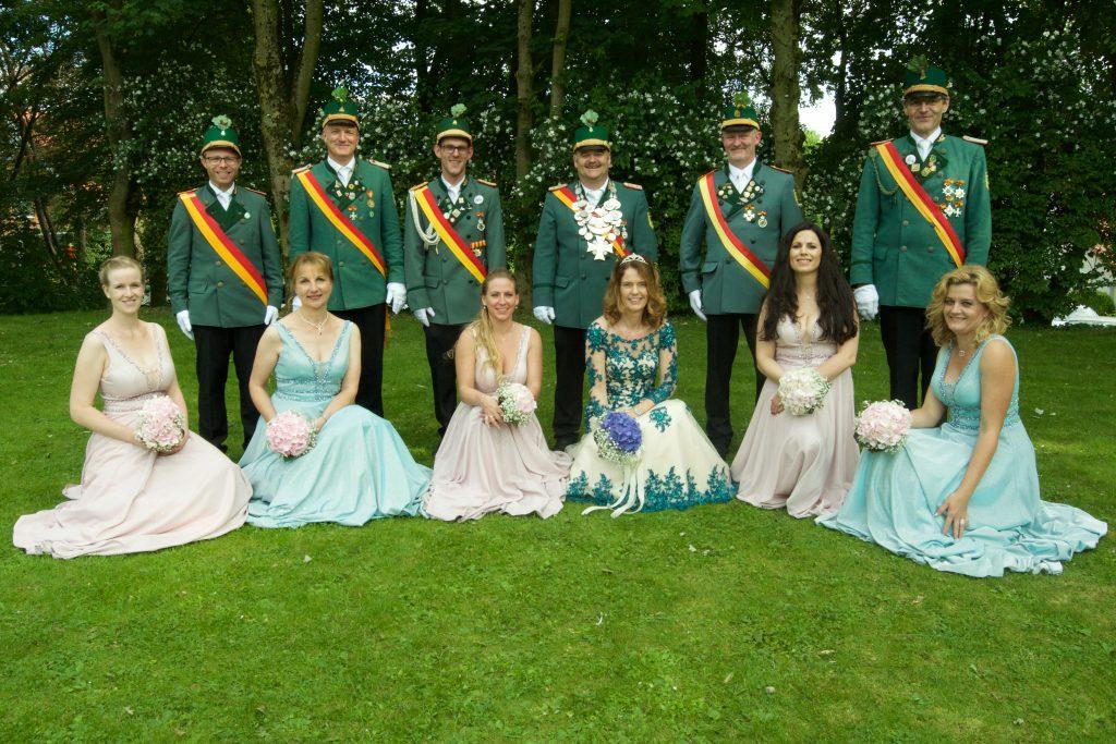 Hofstaat und Königspaar 2019